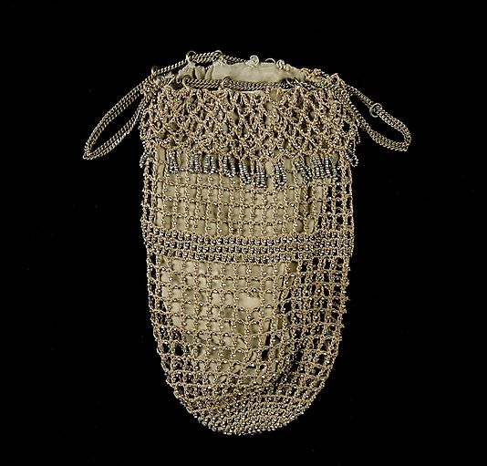 Bag (Pouch), 1850-1859. American. Silk, metal. Brooklyn Museum Costume Collection at The Metropolitan Museum of Art.