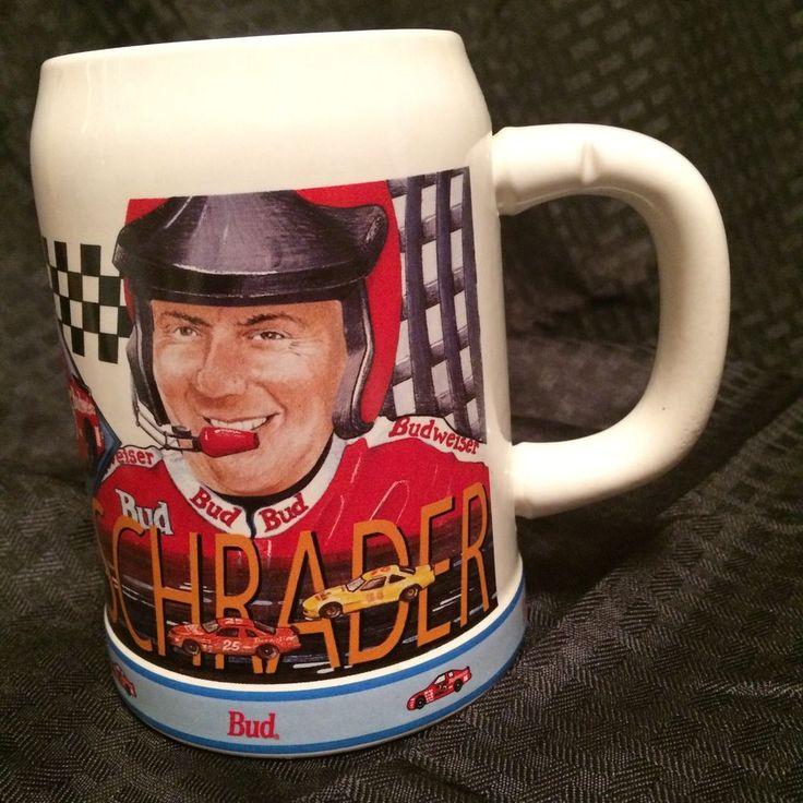 Anheuser Busch Budweiser NASCAR Mug Ken Schrader 1995 Inaugural Year VTG