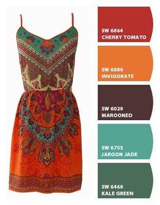 Warm Southwest palette. Paint colors from Chip It! by Sherwin-Williams