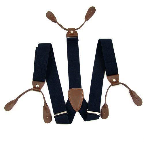 E+S: *Button Suspenders. 6 Button Suspender. Suspenders. Groomsmen Suspenders. Wedding Suspenders. Leather Suspenders., $40.00