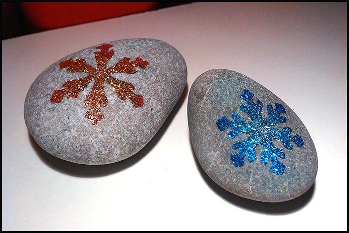 """Csillám Kőfestés - Avagy hogyan készíts csillogó """"Jégvarázsos"""" szerencsekövet? #kőfestés"""