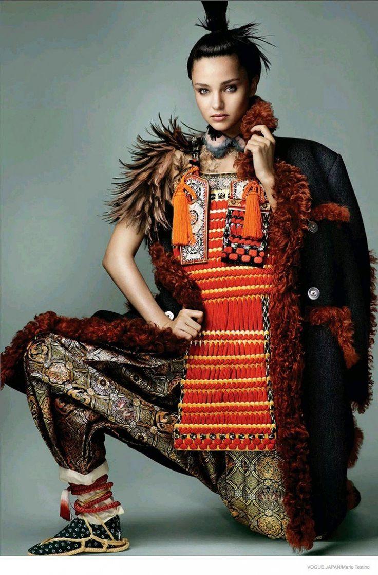 Miranda Kerr Wears Eastern Inspired Looks for Cover Story of Vogue Japan