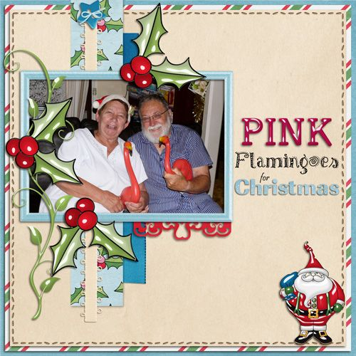 Digital Scrapbooking layout created with December Daily 2012 Collection by Mad Genius Designs.