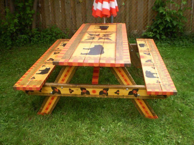 """Ahwahnee"" picnic table"