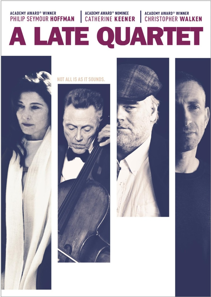 """""""After 25 years together, the members of a world-renowned string quartet learn that their beloved cellist may soon be forced to retire. But the news stirs up equally painful challenges when competing egos, harbored resentment, and irrepressible lust threaten to derail the group as they struggle to maintain harmony in their music, and their lives."""" Find A LATE QUARTET in our catalog: http://highlandpark.bibliocommons.com/item/show/2224944035_a_late_quartet"""