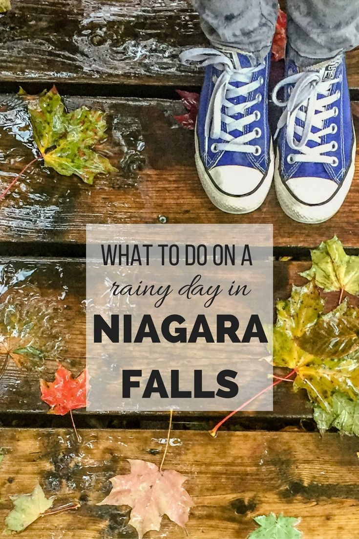 10 fun things to do on a rainy day in Niagara Falls, Ontario, Canada.  There lots of activities in Niagara Falls that operate rain or shine, so visitors can make the most of their visit regardless of the weather. Here are some of the best things to do.