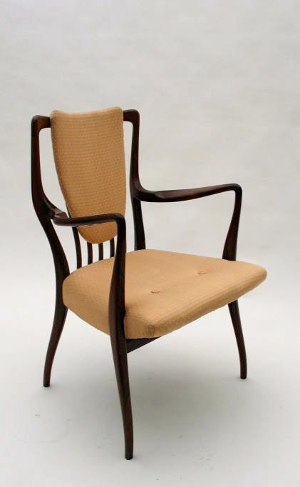 Andrew John Milne; Rosewood Armchair for Mines and West Ltd., 1947.