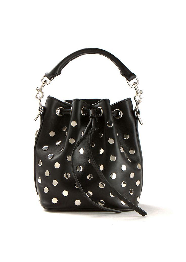 Saint Laurent Shoulder bags :: Saint Laurent black Emmanuelle mini ...