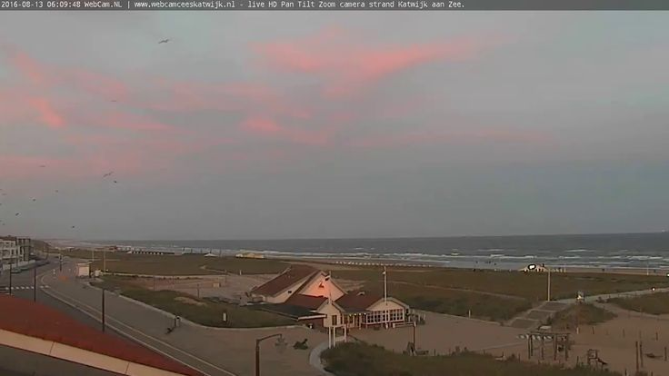 Live webcam with beach and city view Katwijk aan Zee, Holland.