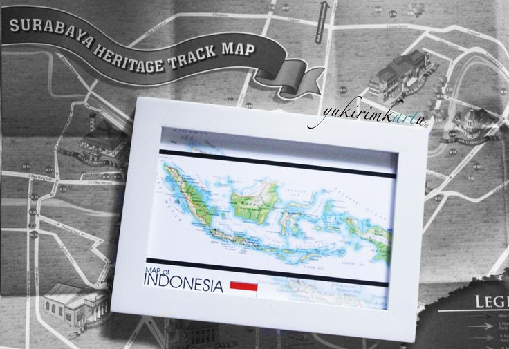 "Code : MAP-3 Size : 10x15 cm  ""Indonesia, Tanah Air Beta, Pusaka Abadi nan Jaya"""