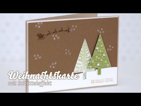 KARTE - Weihnachtskarte - Schüttelkarte - YouTube