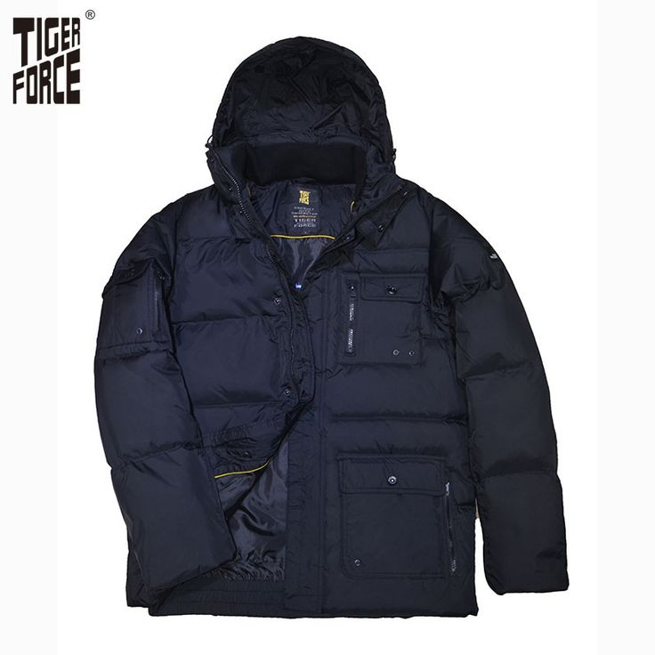 Find More Down Jackets Information about TIGER FORCE 2016 New Design Men White Duck Down Jacket Winter Fashion Down Coat With Hood Solid Zipper Free Shipping D 256B,High Quality zipper insert,China zipper thong Suppliers, Cheap zipper image from TIGER FORCE on Aliexpress.com