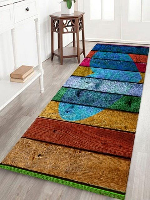 Bath Rugs & Toilet Covers   Cheap Bath Mats & Toilet Lid Covers Online Sale   Dresslily.com   Buying carpet. Wooden pattern. Printed floor mat