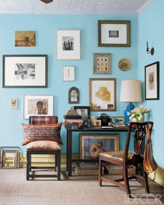 Old Pickup Blue by Benjamin Moore - from Rayman Boozer's living room via Elle Decor.