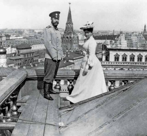 theimperialcourt: Nicholas II and Alexandra on top of the Grand Kremlin Palace 1903