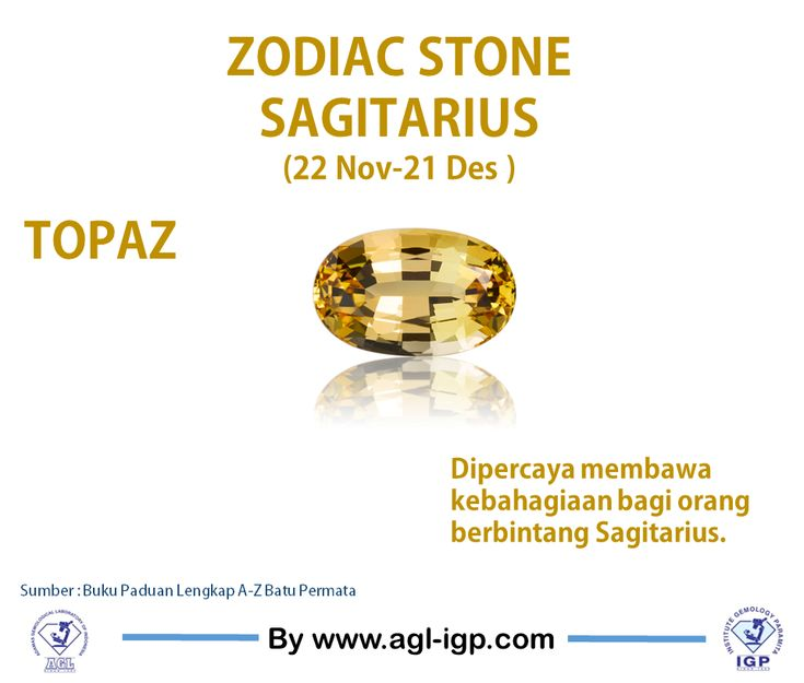 Sagitarius zodiac stone