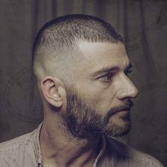 Buzz Cut with Skin Fade and Beard