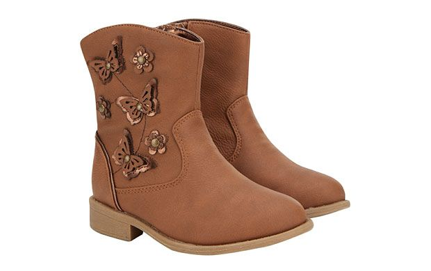 """Cowboy Butterfly Boots. """"She'll float like a butterfly in these pretty cowboy-style boots."""""""