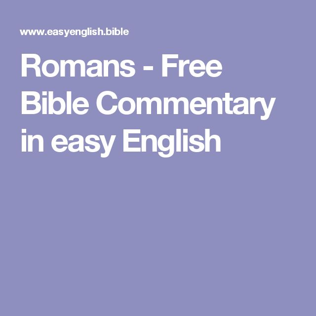 Romans - Free Bible Commentary in easy English