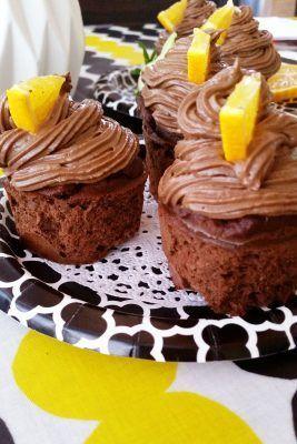 Jauhottomat, sokerittomat Jaffa-suklaa cupcaket! | Terveelliset herkut | Bloglovin'