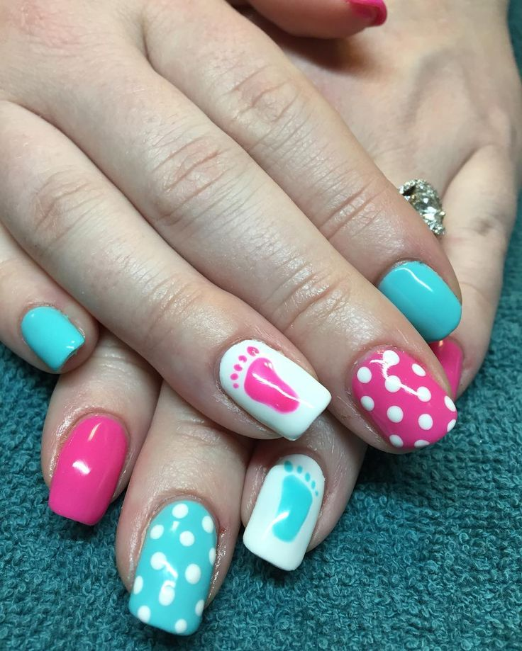 #gender #reveal #nails #nailart http://www.australiaunwrapped.com/2016/02/01/cute-simple-red-nail-color-on-long-nails/