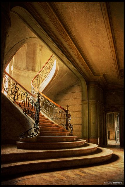 another abandoned chateau Treppen Stairs Escaleras repinned by www.smg-treppen.de #smgtreppen