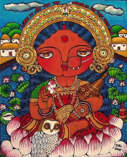Maa Lokkhi (Bengal-school depiction of Goddess Lakshmi)