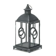 Charming Antique Distressed Grey Lantern (pack of 1 EA) X662-10015408