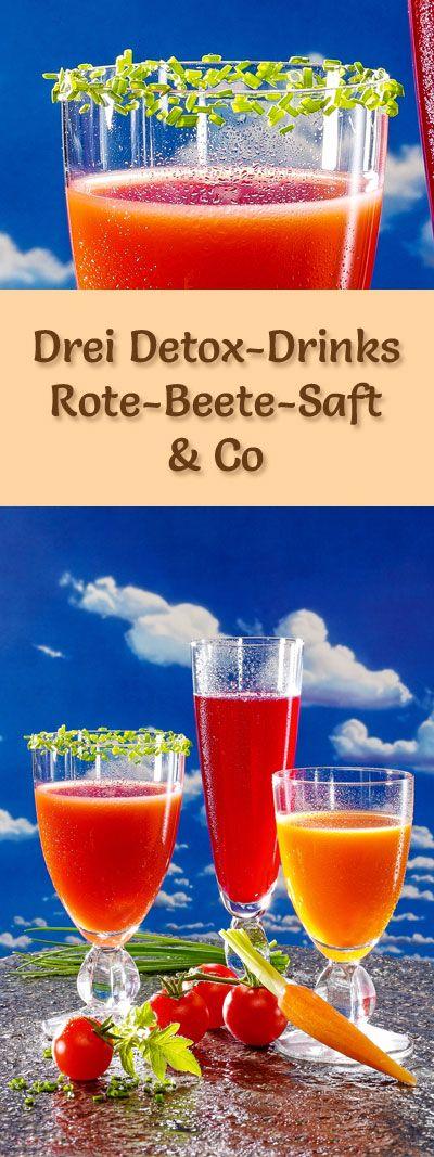 Detox-Säfte: Rezepte für drei Detox-Drinks mit Rote-Beete-Saft, Artischockensaft, Mistelsaft & Co, die gesunden Gemüsesäfte sind kalorienarm, entgiften, entwässern und entschlacken ...