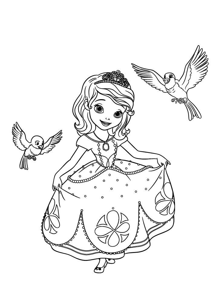 Les 25 meilleures id es de la cat gorie coloriage princesse sur pinterest feuilles colorier - Jeux de princesse sofia sirene gratuit ...