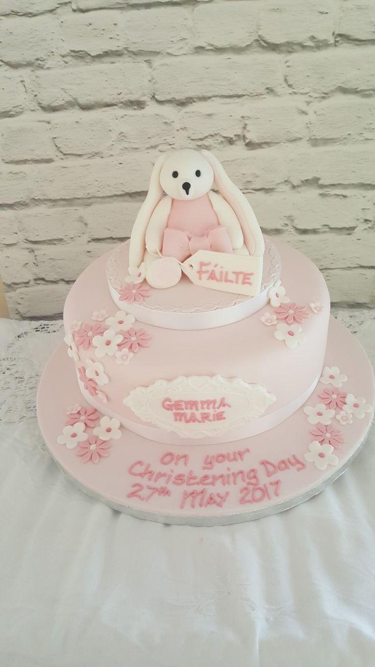 Bunny topper for Gemma Marie's christening cake #christening