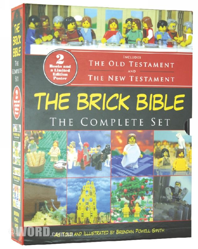 The Brick Bible Story Book: The Complete Set: With over two thousand color photographs depicting the major narrative scenes of the Bible, this slip covered set (including new material and a bonus two-sided, full-color poster) is the gift you've been wanting to give your LEGO (R)-loving friends and family members for holidays, birthdays, or just because.