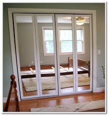 Attractive Mirror Bifold Closet Doors Image Of Stanley Bifold Mirror Closet Doors