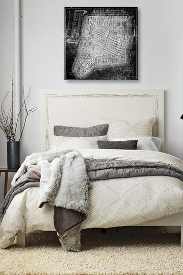 peaceful bedroom in greys and creams #saltstudionyc #saltstudioslc