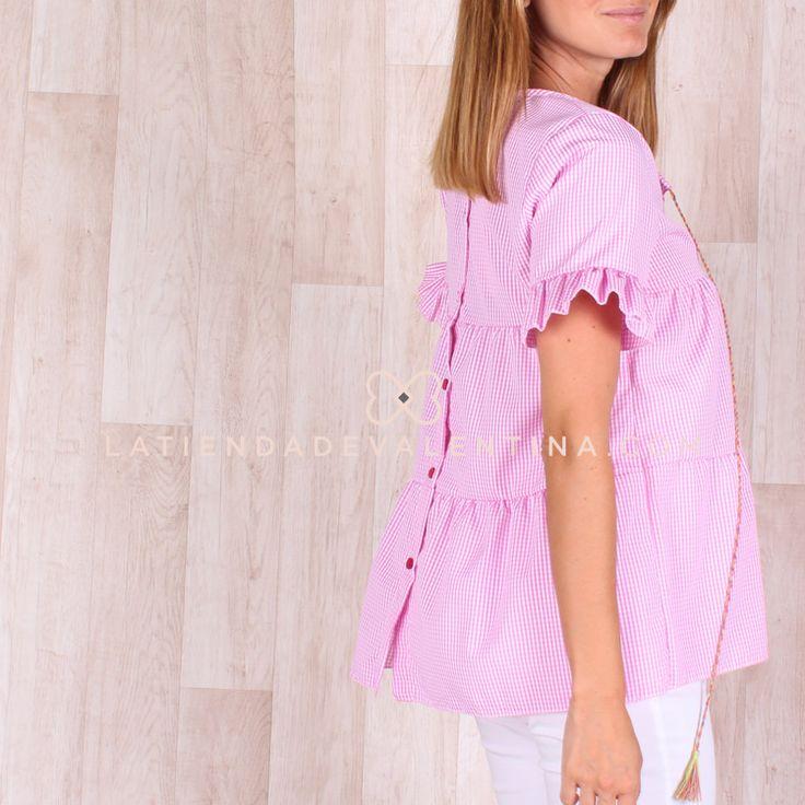 Camiseta Vichy ROSA | La Tienda de Valentina