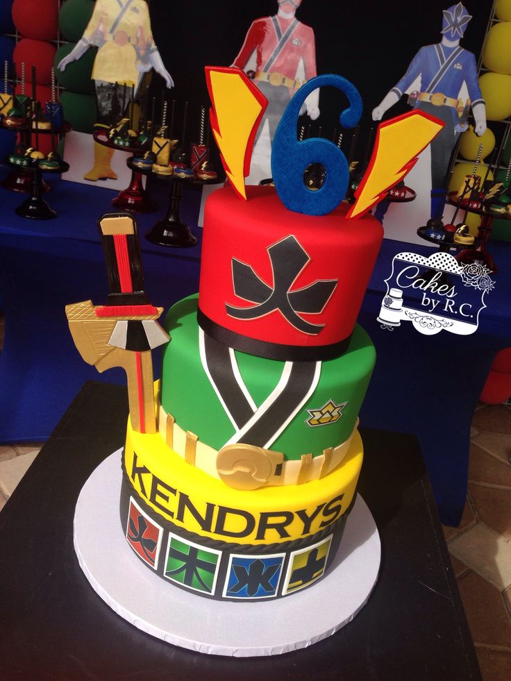 Power ranger samurai inspired cake