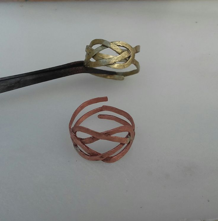 Handmade rings/ bronze/ copper/ cuff/ navy knot/ chic/ woman/ accessories/ K.ompo.S- Handmade Jewel