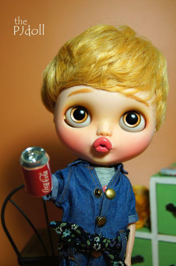 thePJdoll -[ Martin ! ] Custom Blythe Doll/OOAK, handmade boy Blythe custom/ブライス/freckles/Licca/art doll/wigs
