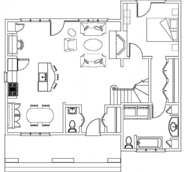 Ms de 25 ideas increbles sobre Planos de bungalows en Pinterest