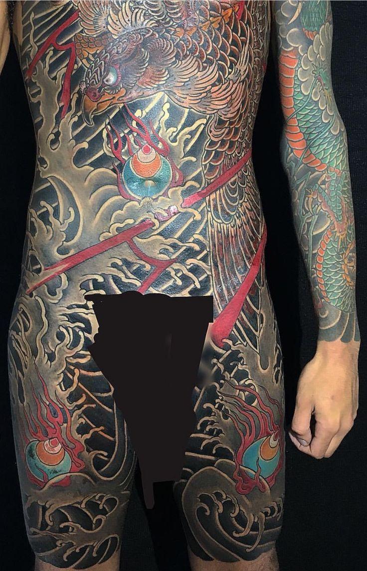 Japanese calf tattoos by durb - Irezumi Japanese Tattoos Tatoo