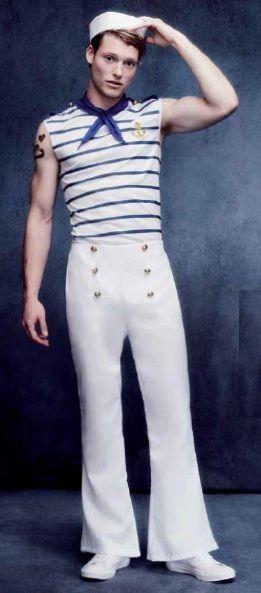 Disfraz de Marinero Frances con un toque diferente y nada visto. Con este disfraz te convertiras en el famoso marinero de Jean Paul Gaultier