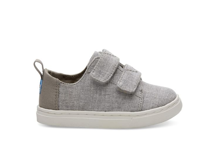 undefined Drizzle Grey Slub Chambray Tiny TOMS Lenny Sneakers