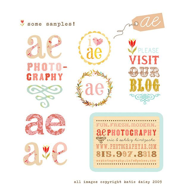 These are cute. But don't like the flowers. Or the visit our blog logo.