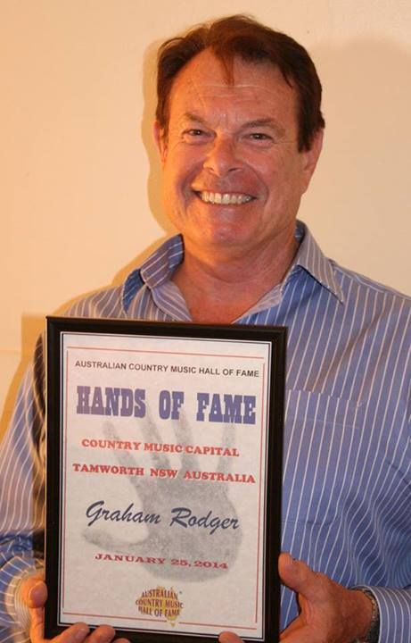 Graham Rodger - 2014 Australian Country Music Hall Of Fame Hands of Fame recipient