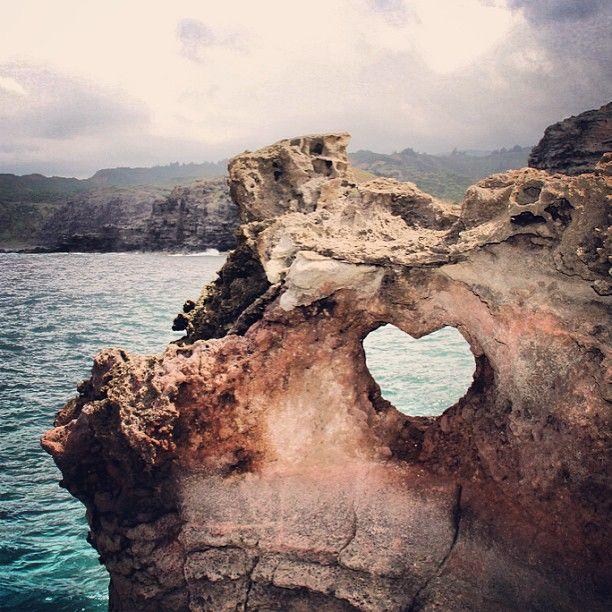 Heart Rock...a 10 minute hike north of Ka'anapali. Hmmm...