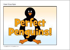 Bathroom Signs Sparklebox penguins class group signs (sb11076) - sparklebox | learning is