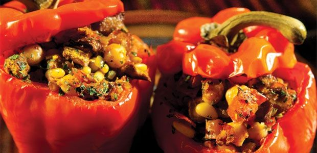 Moroccan Stuffed Red Peppers, alive.com