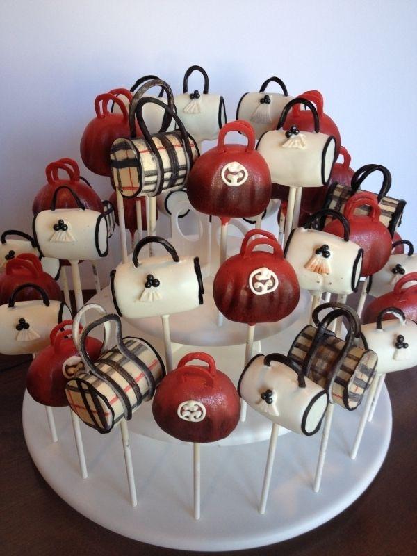 Purse Cake Pops...yummm...handbags so good , you can eat them!