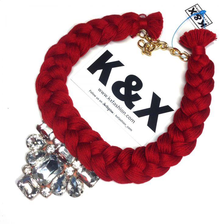 Vegas RED 2  112 USD Made in Ukraine. Ready to order! #onlinestore #kxfashion #statementnecklace #ukraine #odessa #rainbow #kxvegas #red #necklace #fashion #Jewelry #glam #fashion #handmade
