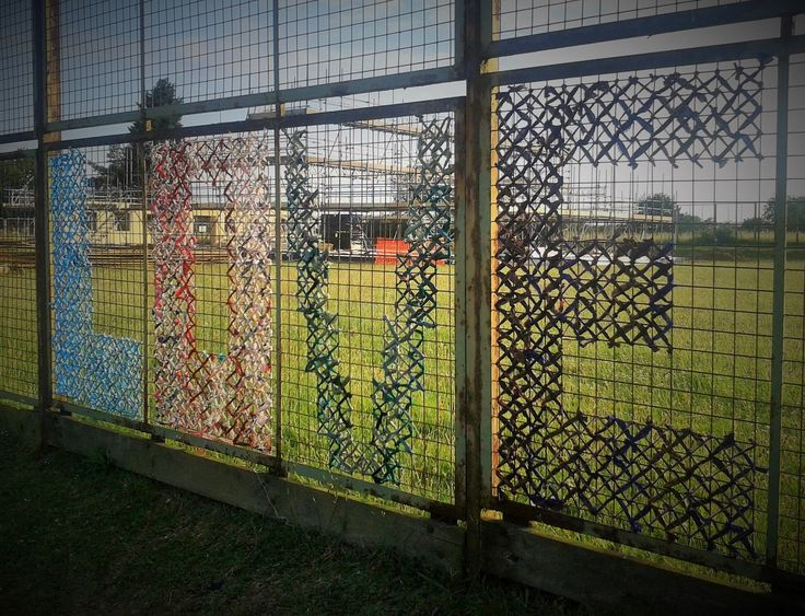 Best chain link fence art images on pinterest